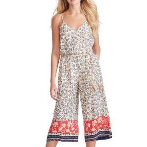 Jessica Simpson Floral Print Cropped Jumpsuit